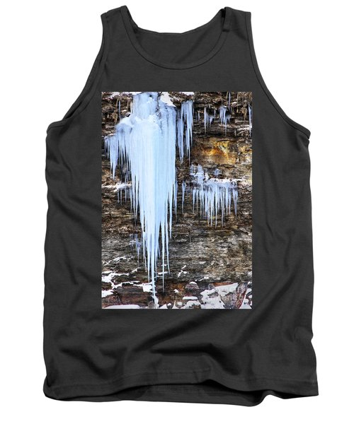 Blue Frozen Icicle Stalactites Tank Top