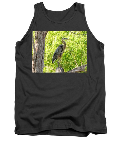 Blue Heron At Rest Tank Top