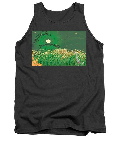 Blue Heron Grasses Tank Top