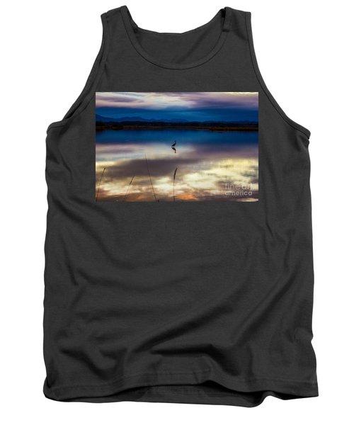 Blue Heron Sun Set Tank Top