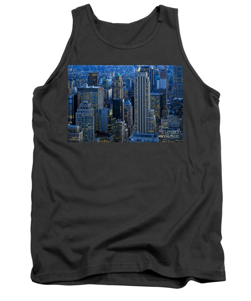 Blue Hour In New York City Usa Tank Top by Sabine Jacobs