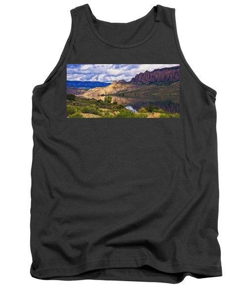 Blue Mesa Reservoir Digital Painting Tank Top