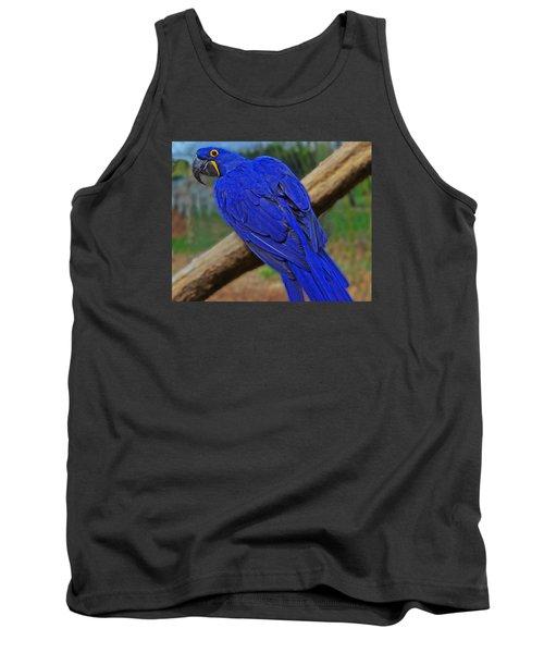 Blue Parrot Tank Top