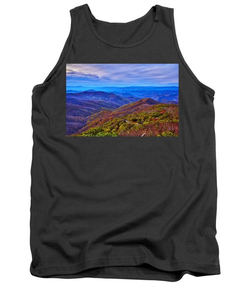 Tank Top featuring the photograph Blue Ridge Parkway by Alex Grichenko