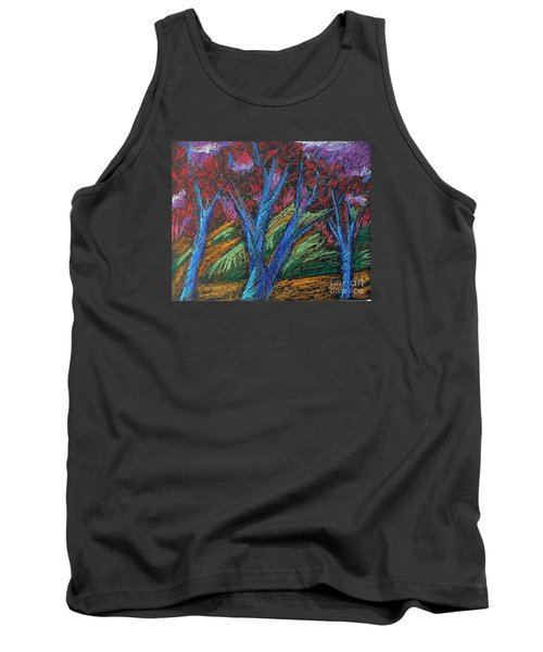 Tank Top featuring the pastel Central Park Blue Tempo by Elizabeth Fontaine-Barr