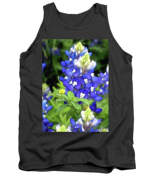Bluebonnets Blooming Tank Top by Stephen Anderson