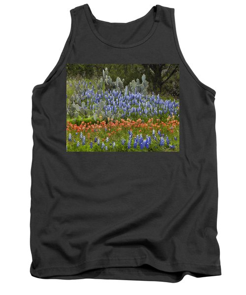 Bluebonnets Paintbrush And Prickly Pear Tank Top