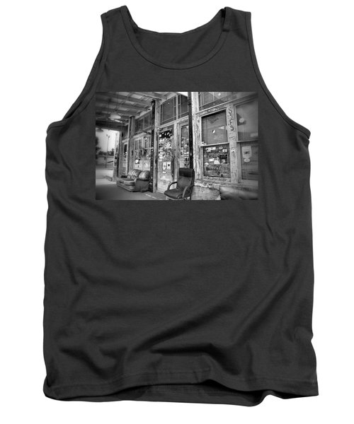 Blues Club In Black And White Tank Top