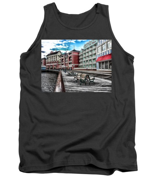 Boardwalk Early Morning Tank Top by Thomas Woolworth