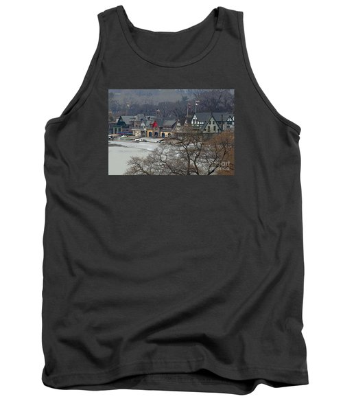 Philadelphia's Boat House Row  Tank Top by Cindy Manero