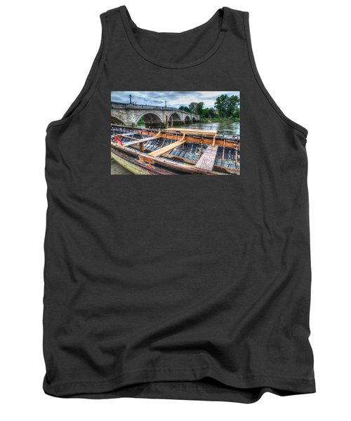 Tank Top featuring the photograph Boat Repair On The Thames by Tim Stanley