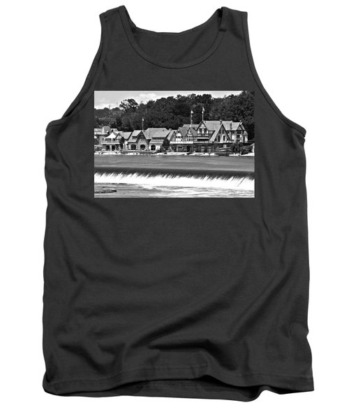 Boathouse Row - Bw Tank Top by Lou Ford
