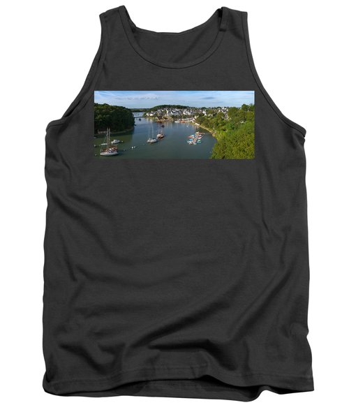 Boats In The Sea, Le Bono, Gulf Of Tank Top by Panoramic Images