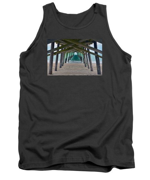 Bogue Banks Fishing Pier Tank Top by Sandi OReilly