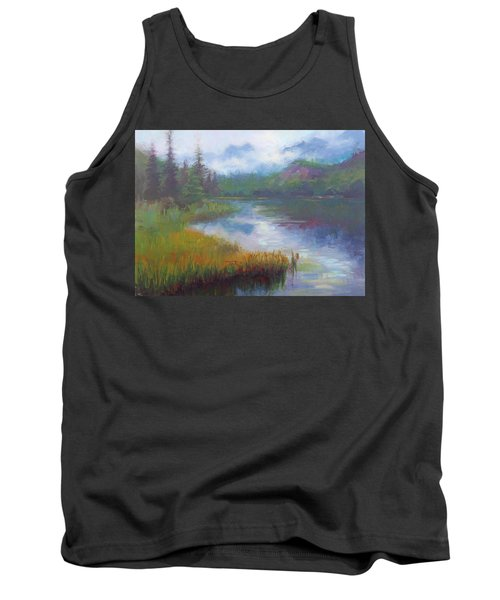 Bonnie Lake - Alaska Misty Landscape Tank Top
