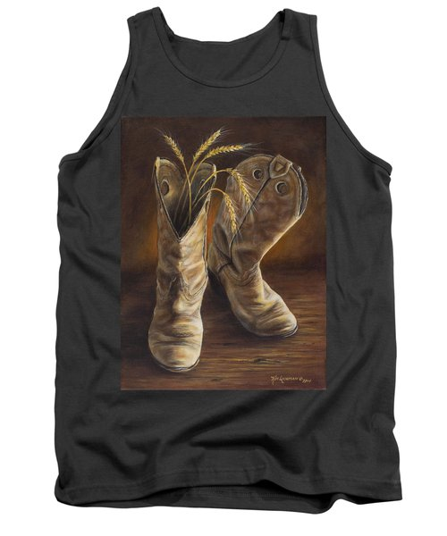 Boots And Wheat Tank Top