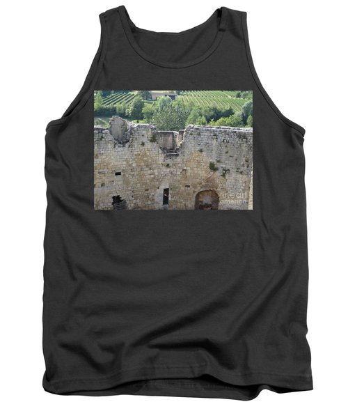 Tank Top featuring the photograph Bordeaux Castle Ruins With Vineyard by HEVi FineArt