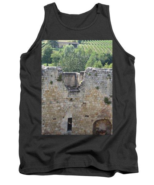 Bordeaux Castle Ruins With Vineyard Tank Top