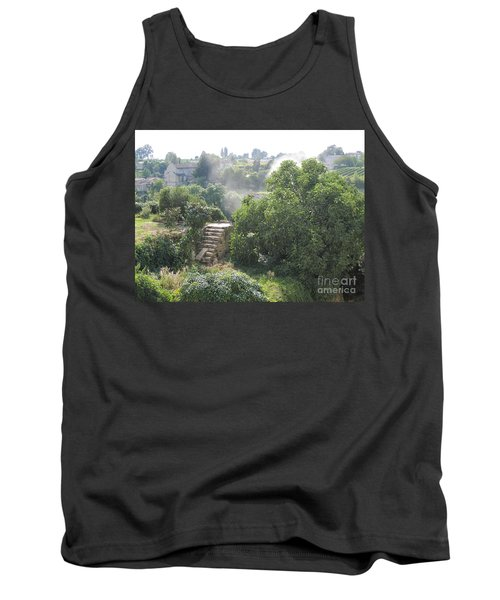 Tank Top featuring the photograph Bordeaux Village Cloud Of Smoke  by HEVi FineArt