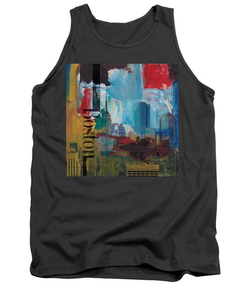 Boston City Collage 3 Tank Top by Corporate Art Task Force