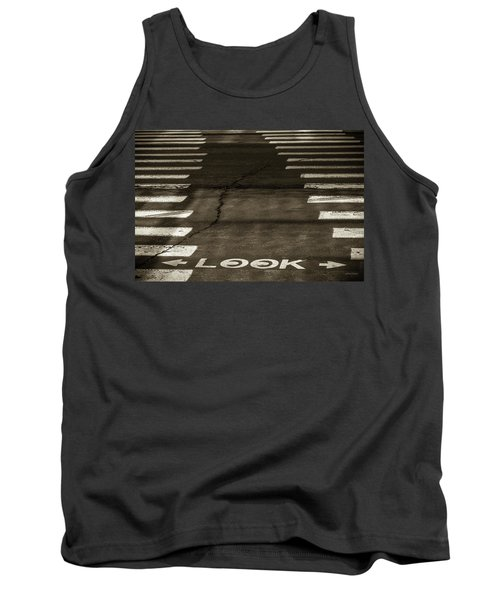 Tank Top featuring the photograph Both Ways - Urban Abstracts by Steven Milner