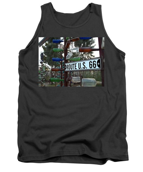 Tank Top featuring the photograph Bottle Trees Route 66 by Glenn McCarthy Art and Photography