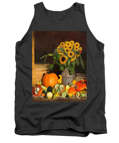 Bountiful Harvest - Floral Painting Tank Top