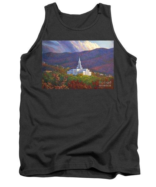 Bountiful Temple In The Mountains Tank Top by Rob Corsetti