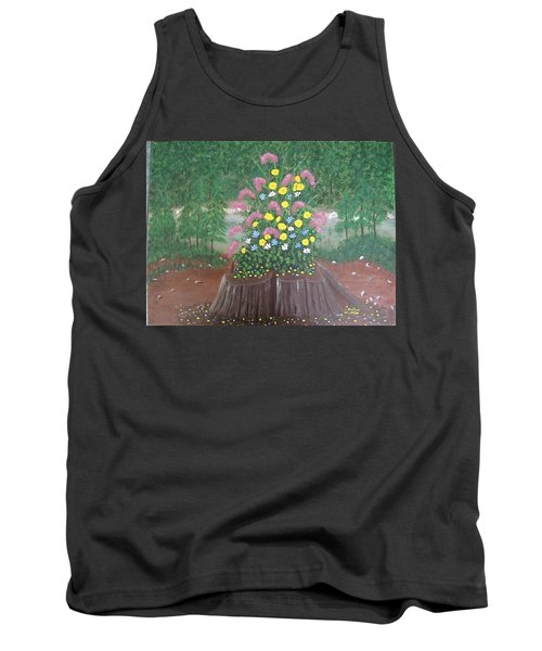Bouquet On A Stump Tank Top
