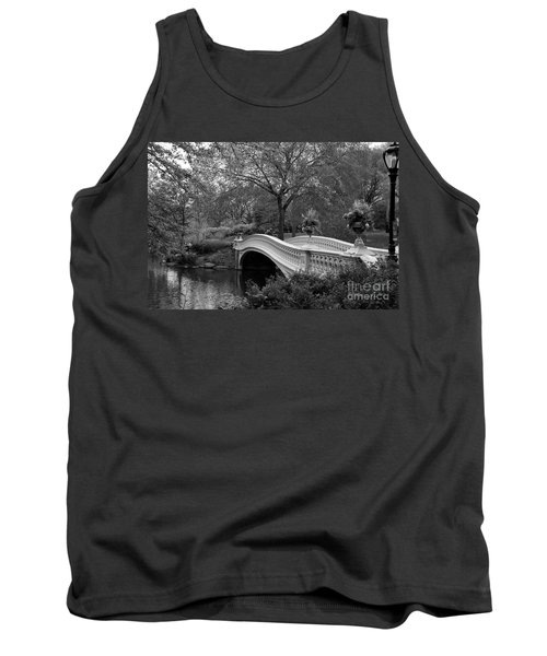Bow Bridge Nyc In Black And White Tank Top