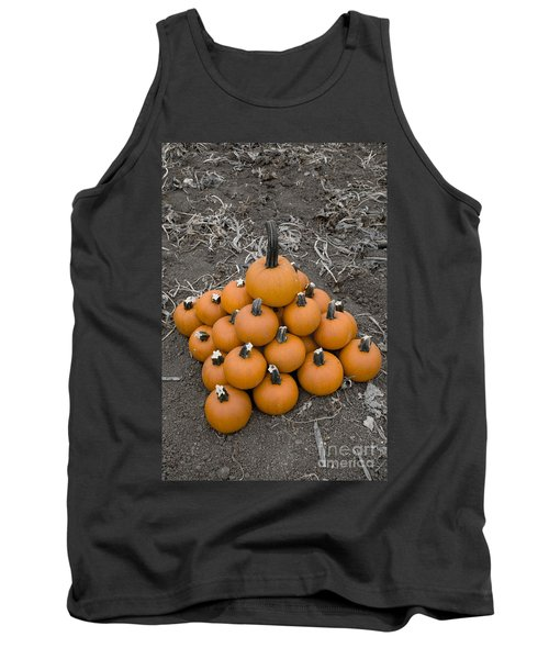 Tank Top featuring the photograph Bowling For Pumpkins by David Millenheft