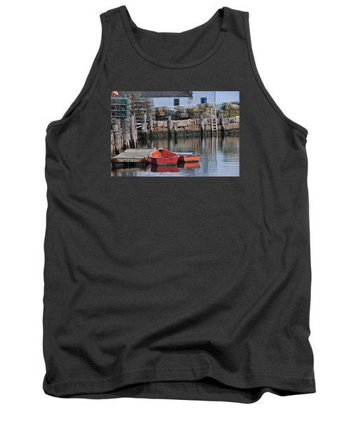 Tank Top featuring the photograph Bradley Wharf Dinghies by Mike Martin