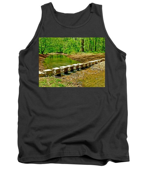 Bridge Across Colbert Creek At Mile 330 Of Natchez Trace Parkway-alabama Tank Top by Ruth Hager