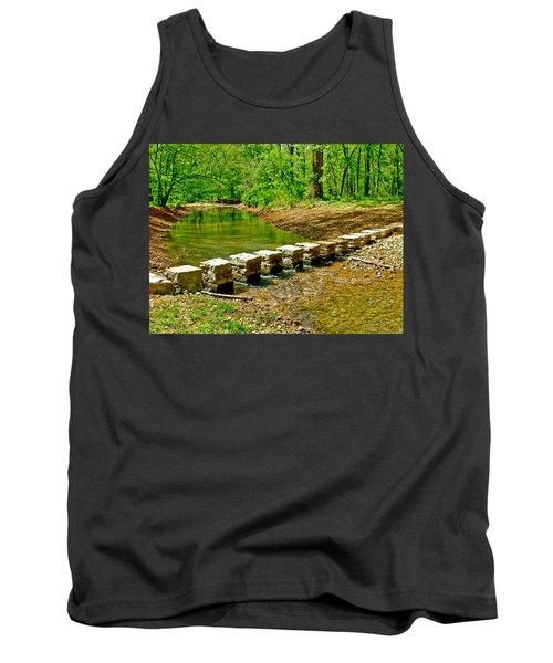 Bridge Across Colbert Creek At Mile 330 Of Natchez Trace Parkway-alabama Tank Top