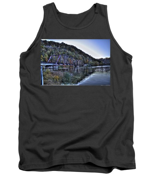 Bridge On A Lake Tank Top by Jonny D