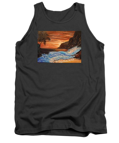Brilliant Hawaiian Sunset 1 Tank Top by Jenny Lee