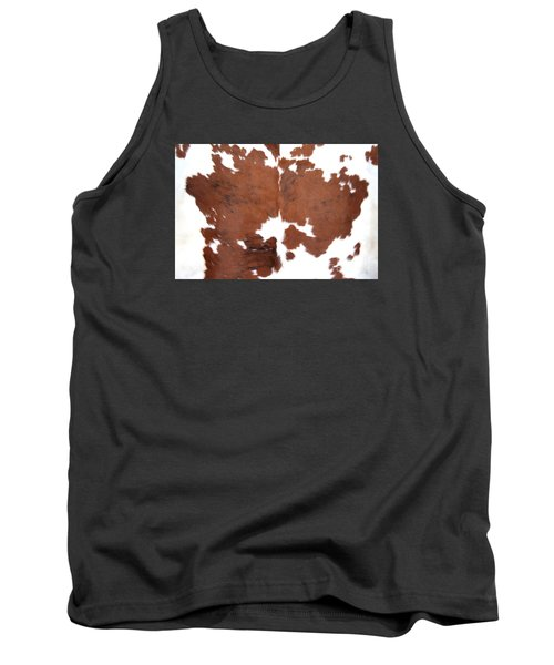 Tank Top featuring the photograph Brown Cowhide by Gunter Nezhoda