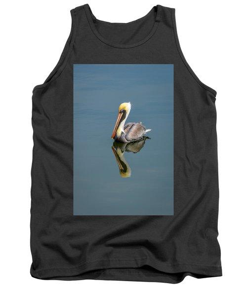 Brown Pelican Reflection Tank Top by Debra Martz