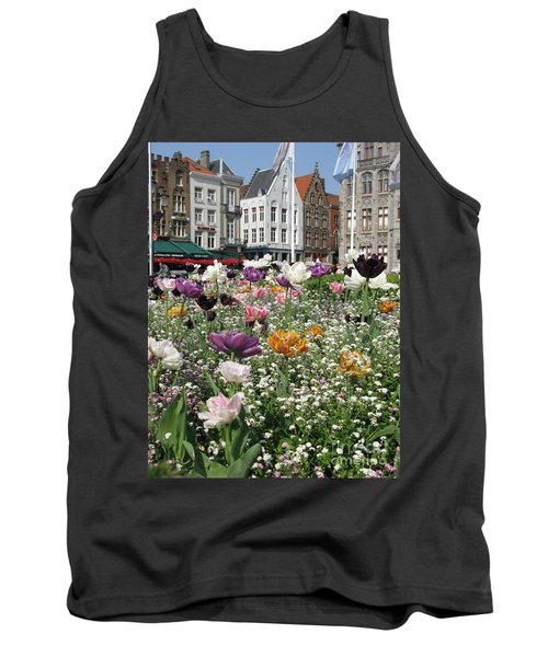 Tank Top featuring the photograph Brugge In Spring by Ausra Huntington nee Paulauskaite