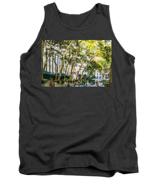 Bryant Park Midtown New York Usa Tank Top by Liz Leyden
