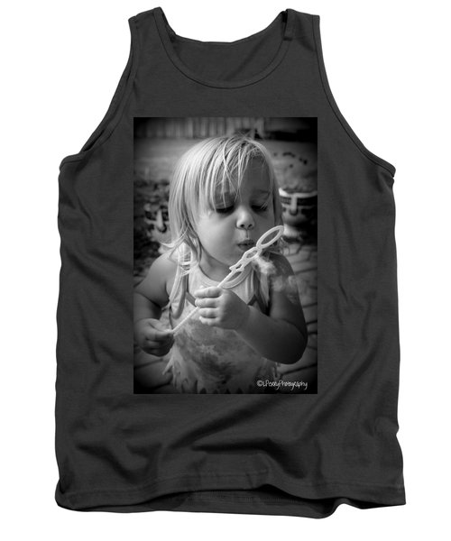 Tank Top featuring the photograph Bubble Fun by Laurie Perry