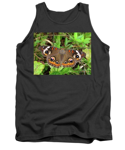 Tank Top featuring the photograph Buckeye Butterfly by Donna Brown