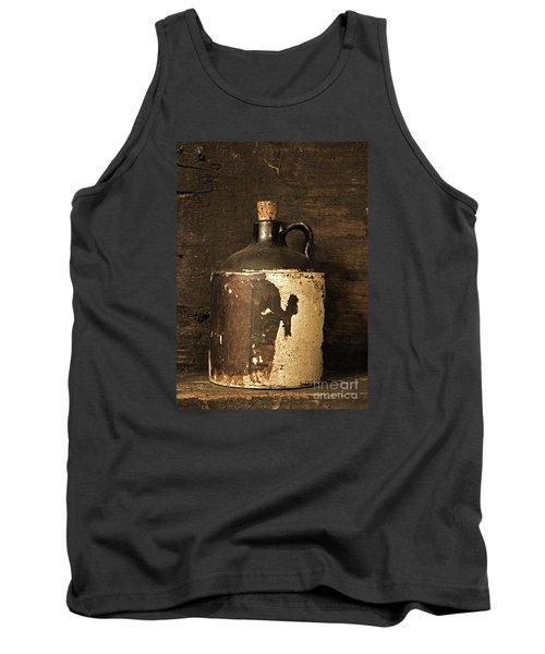 Buddy Bear Moonshine Jug Tank Top by John Stephens