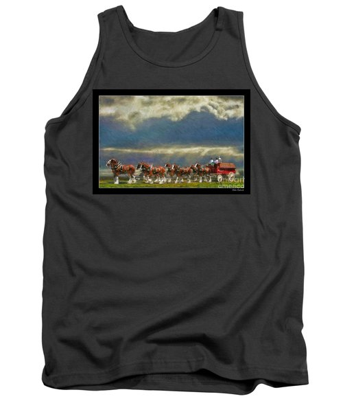 Budweiser Clydesdale Paint 2 Tank Top
