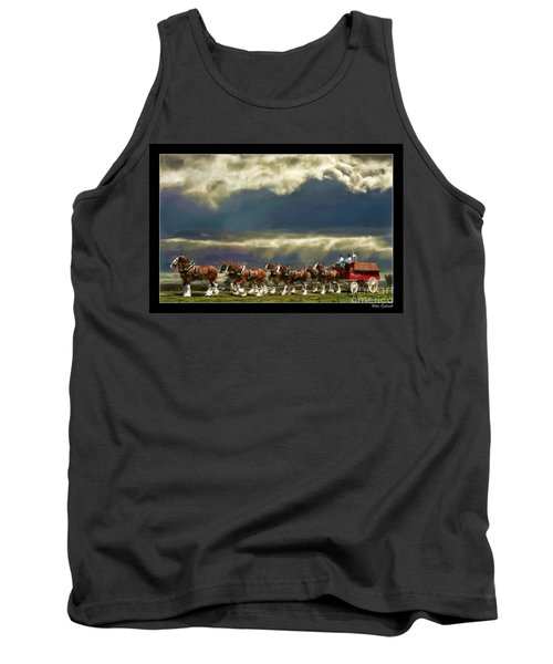 Budweiser Clydesdales Paint 1 Tank Top