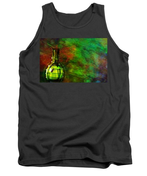 Tank Top featuring the mixed media Bugs by Ally  White