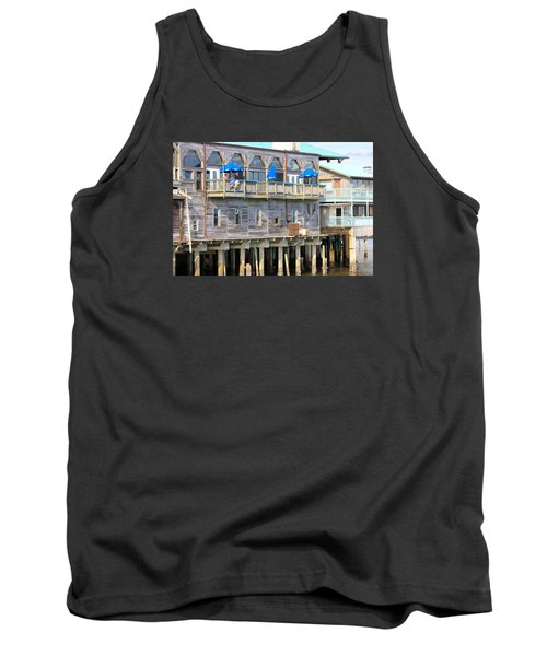 Building On Piles Above Water Tank Top by Lorna Maza