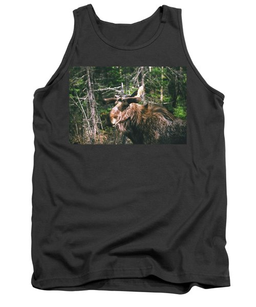 Tank Top featuring the photograph Bull Moose In Spring by David Porteus