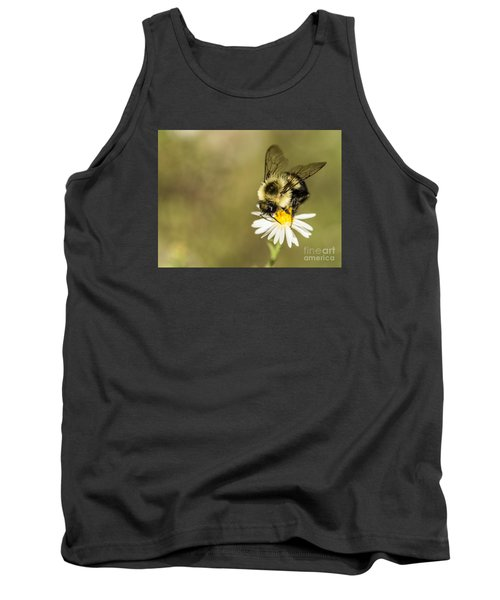 Bumble Bee Macro Tank Top by Debbie Green