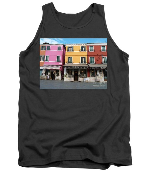 Tank Top featuring the painting Burano by Robin Maria Pedrero